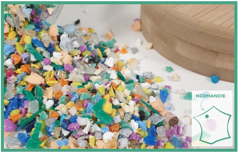 Granules de plastique recyclées